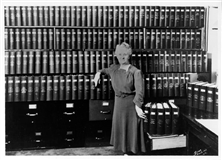 File: 'Ila Fowler with PW history binders'